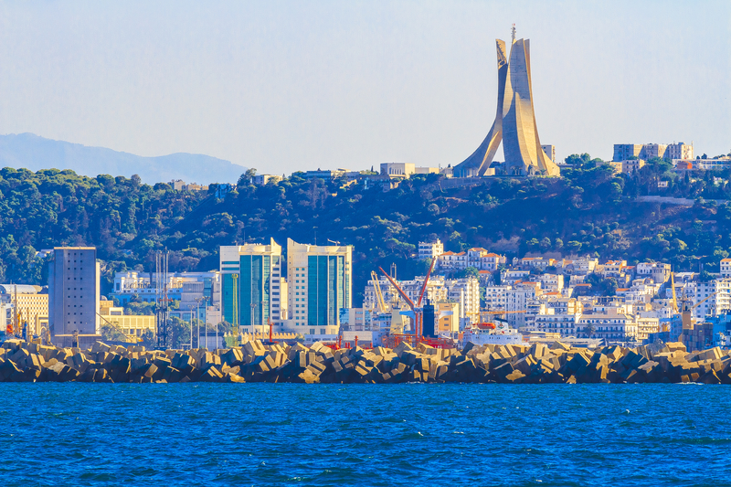 Algiers has an estimated population of 3,5 million and it is also known as the White city (Algiers the white).
